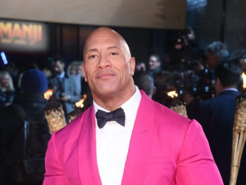 """Dwayne """"The Rock"""" Johnson has revealed he, his wife and his two young daughters tested positive for Covid-19 (Matt Crossick/PA)"""