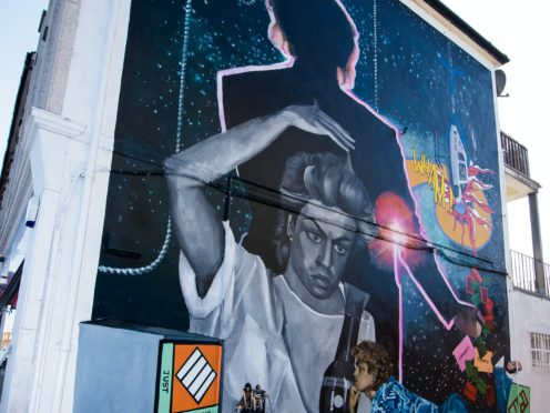 A mural celebrating the life of George Michael by London-based artist, Dawn Mellor (Anthony Upton/PA)