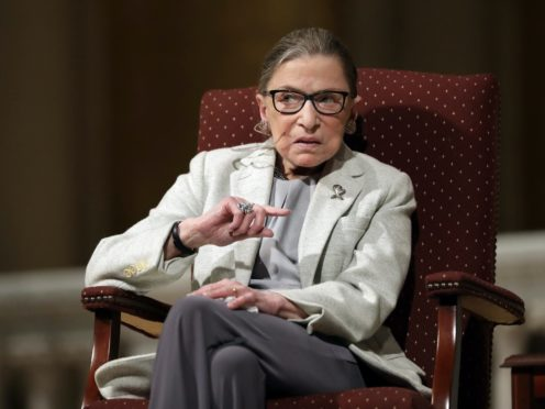 Celebrities have paid tribute to US Supreme Court judge and trailblazing feminist Ruth Bader Ginsburg, who has died aged 87 (AP Photo/Marcio Jose Sanchez, File)