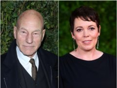 Sir Patrick Stewart and Olivia Colman (Isabel Infantes/Ian West/PA)