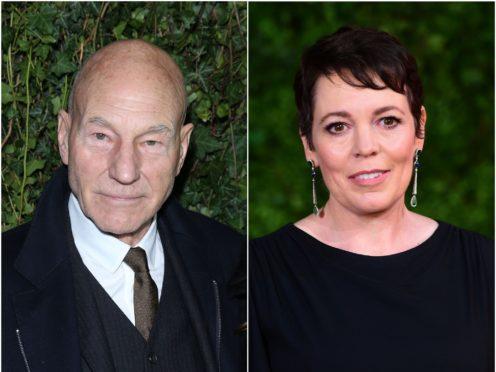 Sir Patrick Stewart and Olivia Colman (Isabel Infantes/Ian West/PA)
