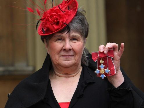 Author Susan Hill with her CBE (Sean Dempsey/PA)