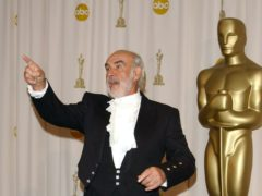 Sean Connery won the best supporting actor Academy Award (Ian West/PA)