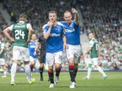 Andy Halliday, left, scored against Hibs at Hampden but ended dup on the losing side (Jeff Holmes/PA)