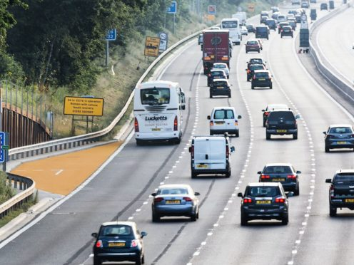 A quarter of the drivers questioned did not know what a smart motorway is (Highways England/PA)