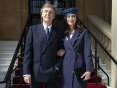 Sir Paul McCartney and his wife Nancy Shevell (Steve Parsons/PA)
