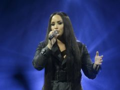Demi Lovato has teamed up with Billie Eilish's brother for a scathing anti-Donald Trump song (John Linton/PA)
