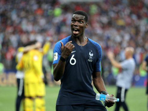 Paul Pogba won the World Cup with France (Owen Humphreys/PA)
