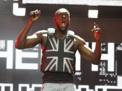 Stormzy's stab-proof vest was designed by Banksy (Yui Mok/PA)