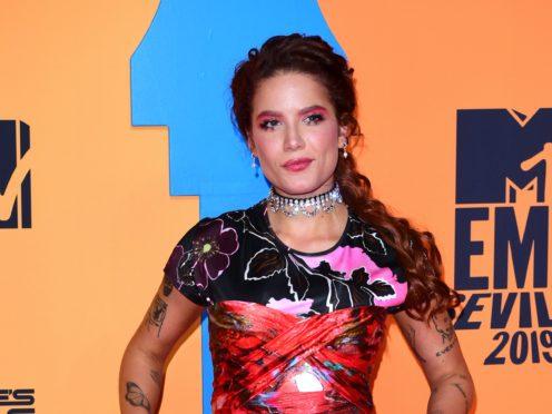 Pop star Halsey has showcased her striking new look in a viral TikTok video (Ian West/PA)