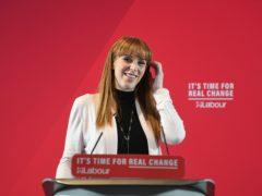 Labour deputy leader Angela Rayner (Joe Giddens/PA)