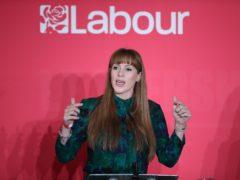Labour deputy leader Angela Rayner (Danny Lawson/PA)