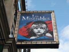 The Sondheim theatre showcasing Les Miserables in London (Luciana Guerra/PA)