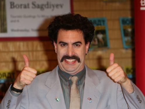 Sacha Baron Cohen as Borat (Ian West/PA)