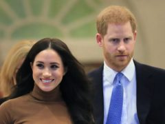 The Duke and Duchess of Sussex's positive rating among the public has fallen according to a new poll. Aaron Chown/PA Wire