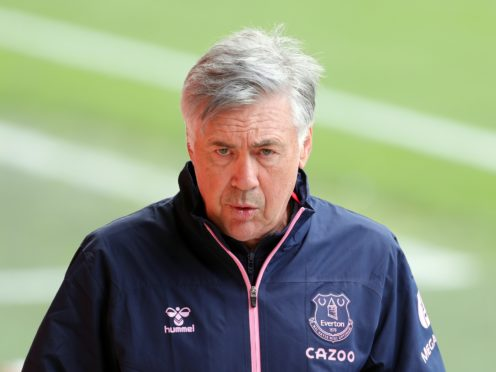 Everton manager Carlo Ancelotti insisted his side do not have a discipline problem despite their second red card in successive matches (Richard Sellers/PA)