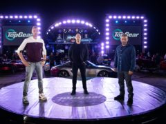 Top Gear hosts (left to right) Freddie Flintoff, Paddy McGuinness and Chris Harris (BBC)