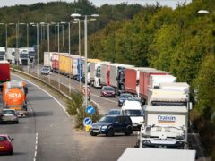 Legislation to fine lorry drivers £300 for entering Kent without a permit has been brought forward by the Government (Aaron Chown/PA)