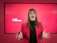 Labour deputy leader Angela Rayner (Stefan Rousseau/PA)