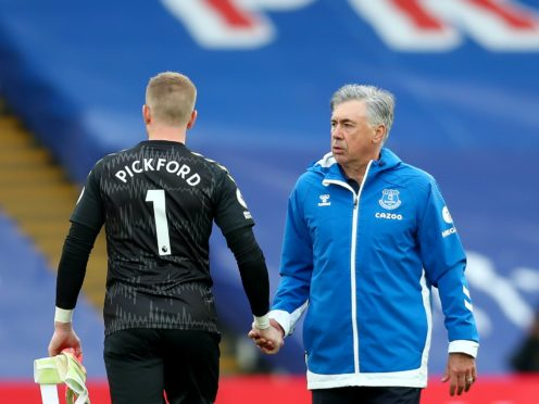 Everton manager Carlo Ancelotti has no plans to take goalkeeper Jordan Pickford out of the firing line (Clive Rose/PA)