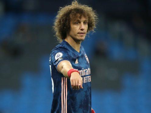 David Luiz scored Arsenal's equaliser in their Europa League win at Rapid Vienna on Thursday. (Martin Rickett/PA)