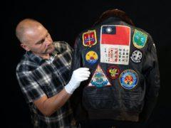 Pete 'Maverick' Mitchell's (Tom Cruise) jacket from the 1986 film Top Gun (Andrew Matthews/PA)