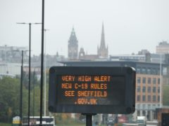 Sheffield in South Yorkshire has entered Tier 3 controls (Danny Lawson/PA)