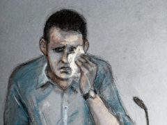 Court artist sketch of Timothy Brehmer giving evidence (Elizabeth Cook/PA)