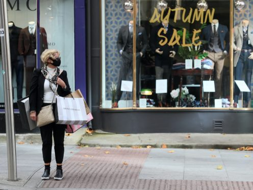 Retail sales volumes are up but fashion retailers are suffering. (Brian Lawless/PA)