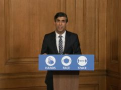 Chancellor Rishi Sunak during the latest media briefing in Downing Street (PA Video)