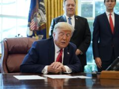 President Donald Trump speaks in the Oval Office (Alex Brandon/AP)