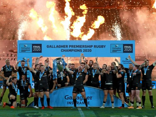 Exeter celebrate lifting the Gallagher Premiership trophy (Dave Rogers/Pool/PA)