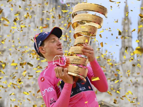 Britain's Tao Geoghegan Hart won the Giro d'Italia on Sunday (Gian Mattia D'Alberto/AP/PA)