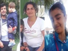 Rasoul Iran-Nejad, 35, Shiva Mohammad Panahi, 35, Anita, nine, and Armin, six, died in the tragedy and their baby son remains missing (Hengaw Organisation/PA)
