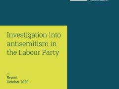 The front cover of the report by the Equality and Human Rights Commission of their investigation into antisemitism in the Labour Party (EHRC/PA)