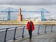 The famous Transporter Bridge in Middlesbrough, where tough coronavirus restrictions were expected to be announced (Danny Lawson/PA)