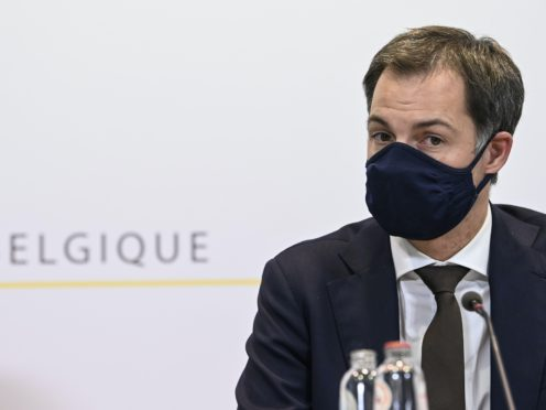 Belgian Prime Minister Alexander De Croo has announced a partial lockdown in a new bid to gain control of the pandemic that has hit the country worse than any other in the European Union (Philip Reynaers/Pool/AP)