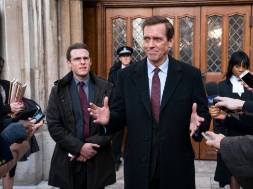 Hugh Laurie as Peter Laurence (The Forge/Steffan Hill/BBC/PA)
