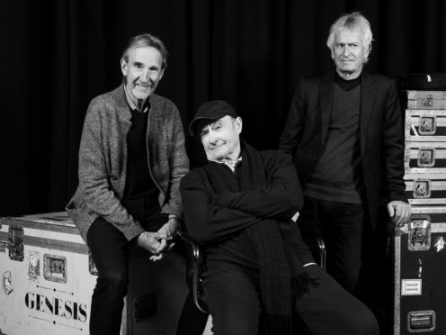 Genesis stars Tony Banks, Mike Rutherford and Phil Collins have been pictured rehearsing together as the band prepares for their first tour in 13 years (Genesis/PA)