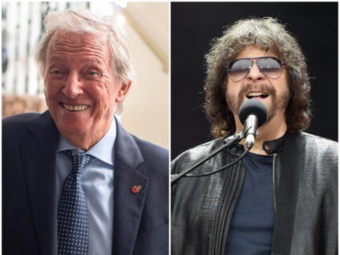 Tommy Steele and Jeff Lynne (PA)