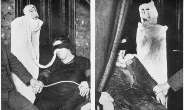 "Helen Duncan was a Scottish medium best known as the last person to be imprisoned under the Witchcraft Act of 1735. She was famous for producing fake ectoplasm and making ""spirits"" - later found to be dolls - materialise."