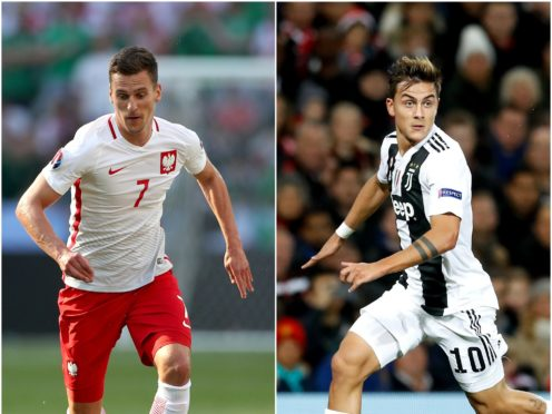 Paulo Dybala and Arkadiusz Milik feature in today's transfer speculation (Nick Potts/Martin Rickett/PA)