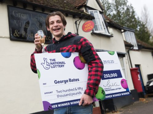 Digger driver George Bates won £250,000 on a Lottery scratchcard he bought from the village Post Office in Great Leighs, Essex (National Lottery/PA)