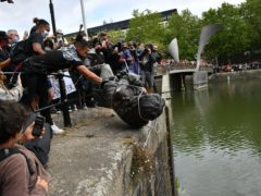 During a Black Lives Matter protest in June, demonstrators tore down a statue of Edward Colston and threw it into Bristol harbour (Ben Birchall/PA)
