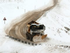 A record number of gritters will patrol Scotland's roads this winter, Transport Scotland has announced (Andrew Milligan/PA)