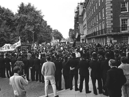 A demonstration against the Vietnam War in Grosvenor Square, London (Archive/PA)