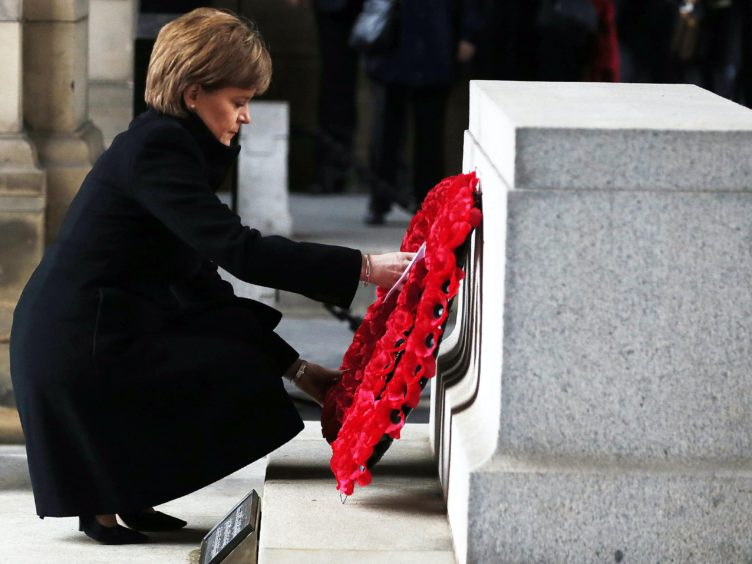 Scotland's First Minister Nicola Sturgeon will lay a wreath this year (Danny Lawson/PA)