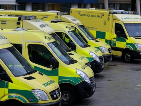 The ambulance service warned patients to expect delays (Peter Byrne/PA)