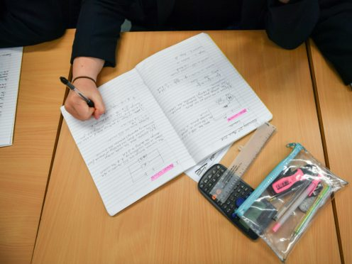 Overall, pupil attendance dropped from 89% a week earlier to 86% on November 12 (Ben Birchall/PA)