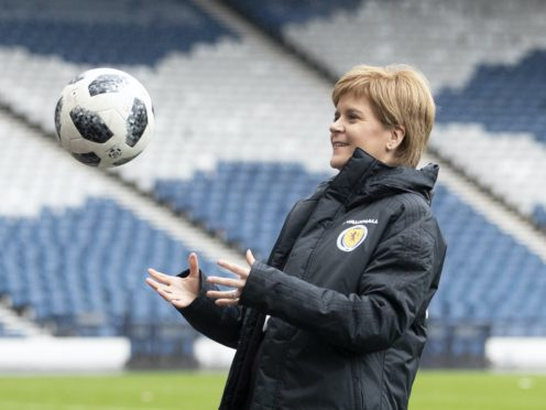First Minister Nicola Sturgeon tweeted in celebration of Scotland's win (PA)